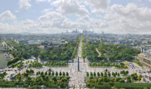 The recreation of place de la concorde and the champs-élysées