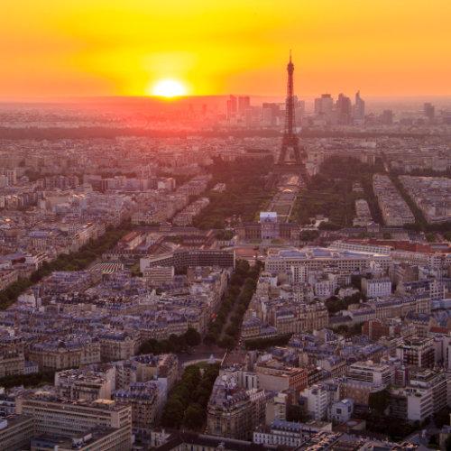 An incredible sunset in Paris