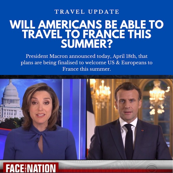 Will vaccinated americans be able to travel to france this summer?